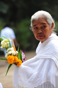 Woman with Flowers at Wat Nong Pah Pong