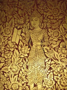 Wall Painting on a Door from a Monastery in Chiang Mai
