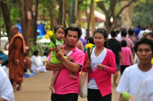 Thai Family at the Luang Por Chah Anniversary Day 2012