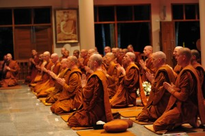 Monks Chanting at Wat Pah Nanachat